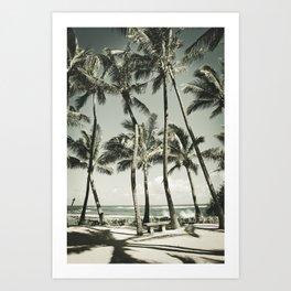 Kuau Beach Palms Maui Hawaii Art Print