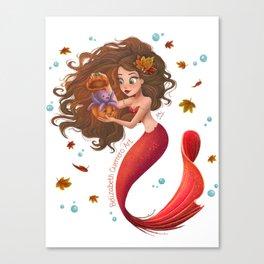Autumn Mermie Canvas Print