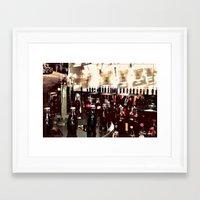 it crowd Framed Art Prints featuring Crowd by YM_Art by Yv✿n / aka Yanieck Mariani