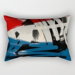 French Expressionist Abstract Art Rectangular Pillow