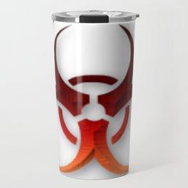 Rusty Biological Hazard Symbol Travel Mug