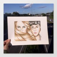 paper towns Canvas Prints featuring Paper Towns Drawing by dancing_papers