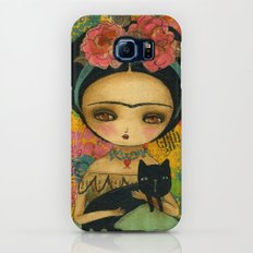 Frida And Her Cat Galaxy S6 Slim Case