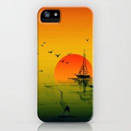 Japanese Sunset iPhone Case