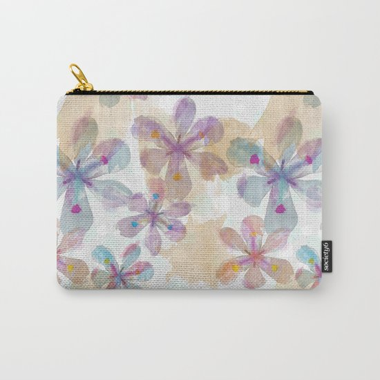 Soft Flower Carry-All Pouch