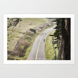 The lonely cyclist Art Print
