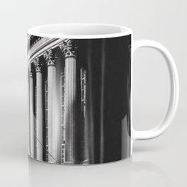 Wall Street, Stock Exchange, New York, New York black and white photograph Coffee Mug