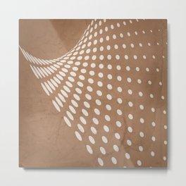Halftone Flowing Swerve in Cinnamon Metal Print