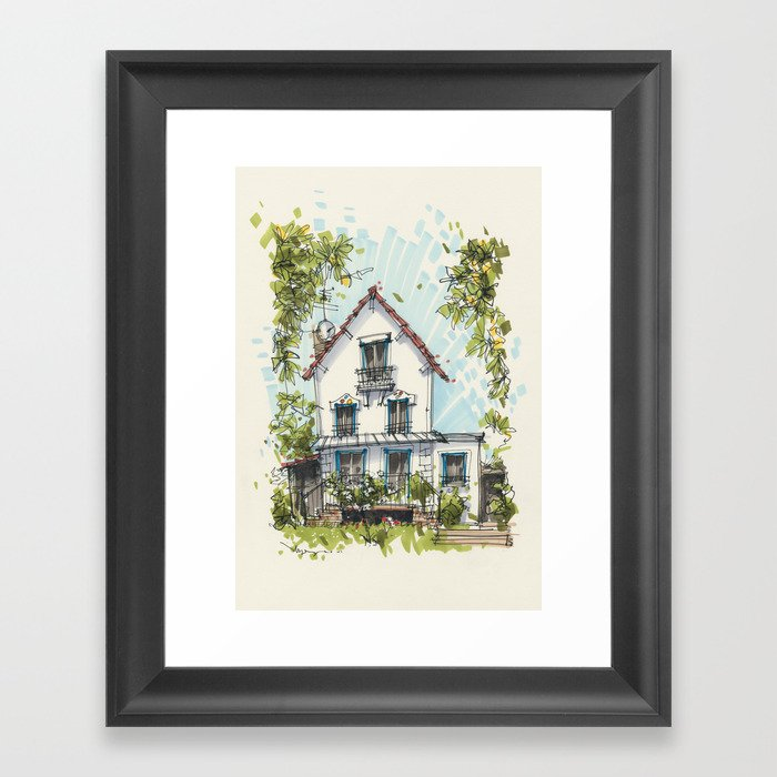 Maison a Paris Framed Art Print