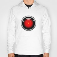 2001 a space odyssey Hoodies featuring HAL 9000 from 2001: A Space Odyssey by TOM / TOM