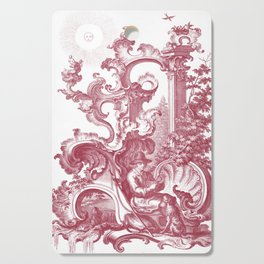Baroque Toile de Jouy Man and Dog Cutting Board