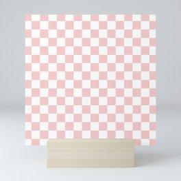 Gingham Pink Blush Rose Quartz Checked Pattern Mini Art Print