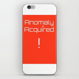 anomaly acquired 001 iPhone Skin