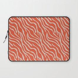 Orange Zebra Laptop Sleeve