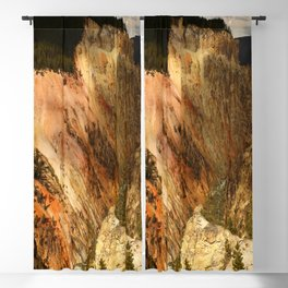 Yellow Rocks Of The Yellowstone Valley Blackout Curtain