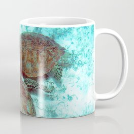 Watercolor Turtle, Green Turtle 13, St John, USVI Coffee Mug