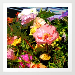Flowers Bathing in the Sun Art Print
