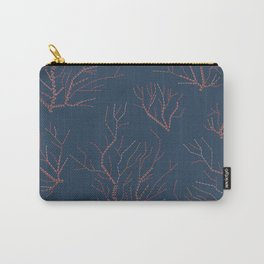 Embroidered сorals Carry-All Pouch