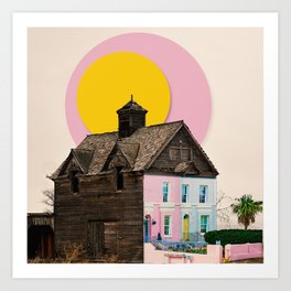 The Pink House Art Print