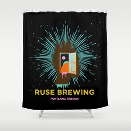 RUSE BREWING - THOUGHT FREQUENCY Shower Curtain