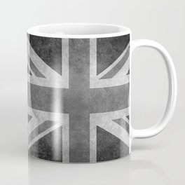 UK flag, Greyscale Retro Coffee Mug