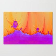 Alien Landscape in pink and Orange Canvas Print