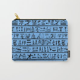 Egyptian Hieroglyphics // Blue Carry-All Pouch