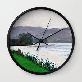 Felix Edouard Vallotton - Edge Of The Seine At Tournedos - Digital Remastered Edition Wall Clock