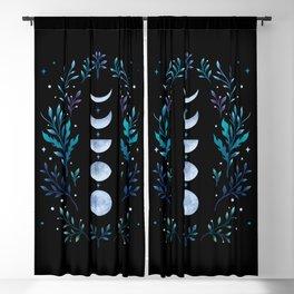 Moonlight Garden - Blue Blackout Curtain