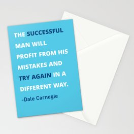 Dale Carnegie Quote Poster Stationery Cards