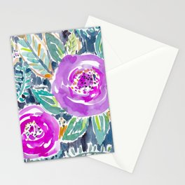 Gardens of Bolinas Purple Floral Stationery Cards