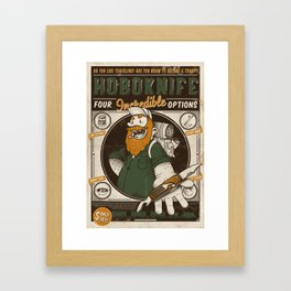 Classic Posters. Hobo Knife Framed Art Print