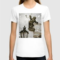 prague T-shirts featuring Prague  Gargoyle by Bella Blue Photography