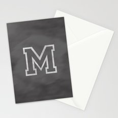 Letter M Stationery Cards