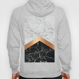 Arrows - White Marble, Rose Gold & Black Granite #799 Hoody