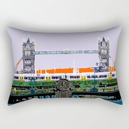 London Tower bridge & tube pop artwok, England photogrphy, mind the gap Rectangular Pillow