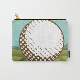 Golf vintage style travel poster Carry-All Pouch