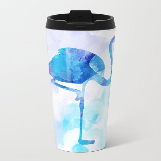 Abstract Flamingo Metal Travel Mug