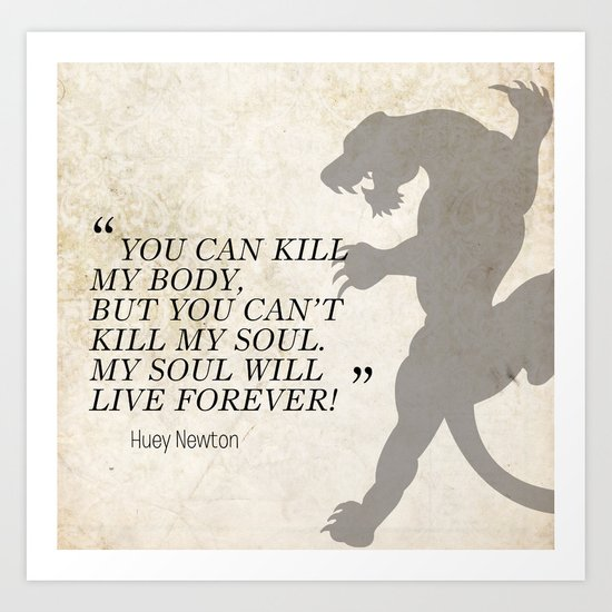 Famous Last Words: Huey Newton Art Print