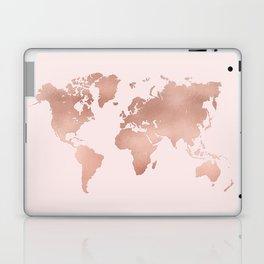 Rose Gold World Map Laptop & iPad Skin