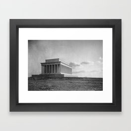 Construction of The Lincoln Memorial (1920) Framed Art Print