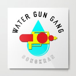 Songkran Water Gun Gang Metal Print