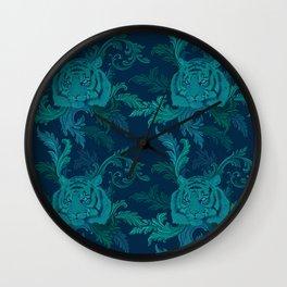 Tiger Greenery Wall Clock