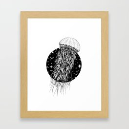 Jellyspace (Jellyfish) Framed Art Print
