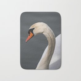 Mute Swan in Winter Bath Mat
