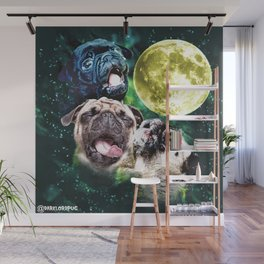 Howl at the Moon Pug Wall Mural