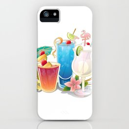 Tropical Drinks 3 iPhone Case