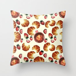 Breakfast, maybe! Throw Pillow