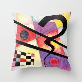 Abstract composition no 1 - Love Kandinsky Throw Pillow