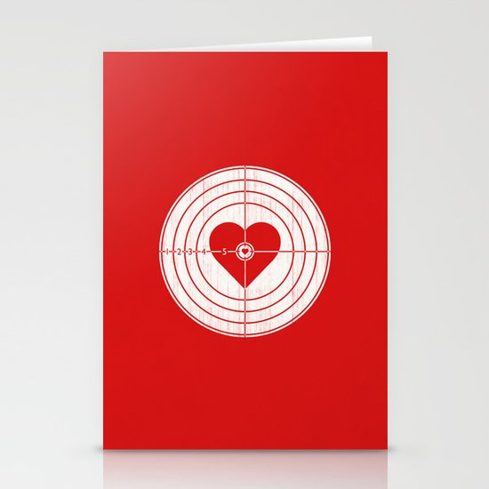 Hit Me in the Heart Stationery Cards